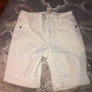 Justice White Denim Bermuda Shorts